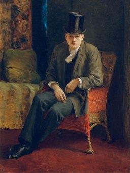 Autoportrait-haut-de-forme-Josef-Engelhart